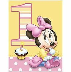 1st Birthday Minnie Mouse Edible Custom Icing Party Cake Decoration Image Topper | eBay