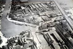 Westvest Delft (jaartal: 1920 tot 1930) - Foto's SERC Delft, North Sea, Old City, Gravure, Holland, Dutch, City Photo, Nostalgia, Shapes