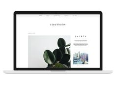 Responsive Wordpress Theme Stockholm by Bloom Blog Shop on Creative Market