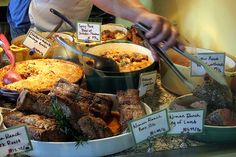 Meat Marin County Style by Jake Slagle, via Flickr - Shot at San Francisco Ferry Terminal Farmers Market of prepared meat dishes made with Niman Ranch Meats from Marin County.