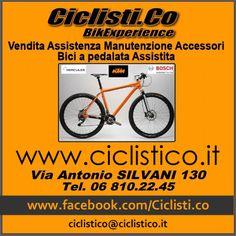 Vendita Biciclette - Assistenza e Manutenzione - Accessori - Biciclette elettriche a pedalata assistita - CICLISTICO e' in Via Antonio Silvani, 130 Roma (Prati Fiscali) - tel. 06 8102245 - mailto: ciclistico@ciclistico.it - Facebook: http://www.facebook.com/Ciclisti.co - website: http://www.ciclistico.it
