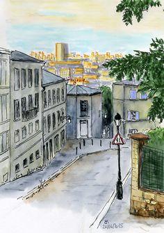 Urban Sketchers Paris: Les ruelles à Montmartre