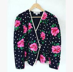 045eaff9f37 eltoft vintage - Floral Polka Dot Print Silk Jacket -  40.00 Women s Suits