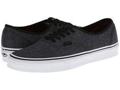 Vans Authentic (Micro Grid Suiting) Black ($45) - Zappos.com