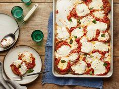 No-Fry Sheet-Pan Eggplant Parmesan recipe from Food Network Kitchen via Food Network