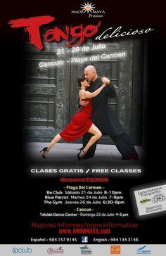 Free Tango Lessons in Playa del Carmen! July 21st, 24th & 26th
