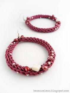tricotin earrings