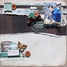 'Outdoor Trail' is one of the 3 Kaisercraft ranges in store at Anna's Craft Cupboard for August. If you love camping, hiking fishing and e. Scrapbooking Layouts, Scrapbook Pages, Digital Scrapbooking, Anna Craft, Craft Cupboard, Family Memories, Page Layout, Scrapbooks, Trail