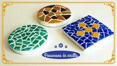Cómo hacer posavasos de arcilla con imitación a mosaico - http://www.manualidadeson.com/posavasos-de-arcilla.html