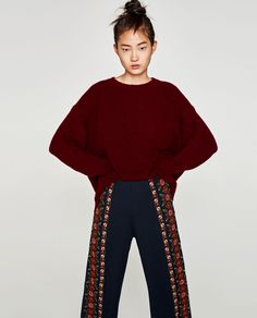 ZARA Embroidered Culottes