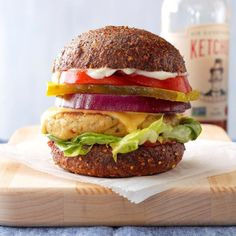 Garbanzo Bean Burgers Chickpea Patties, Chickpea Burger, Cheese Bread, Cheddar Cheese, Bean Burger, American Cheese, Italian Seasoning, Burger Recipes, A Food