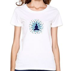 RUIFENG Womens Buddha Mandala Blossom Tshirt  XXL White -- Click on the image for additional details.