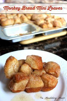 Monkey Bread Mini Loaves by The Mandatory Mooch