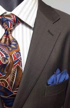 F. R. Tripler Size 46R Cashmere Wool Taupe Suit | 40X26.5 Pants | Free Tie EUC #FRTriplerCo #TwoButton