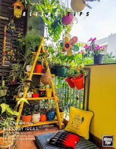 Glass Balcony Railing, Balcony Decoration, Balcony Ideas, Balcony Table And Chairs, Balcony Furniture, Furniture Ideas, Outdoor Furniture, Balcony Plants, Balcony Garden