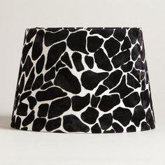 One of my favorite discoveries at WorldMarket.com: Black and White Giraffe Flocked Accent Lamp Shade