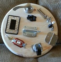 Busy Board, Toy that you can DIY. Fun for infants and toddlers, #busyboard