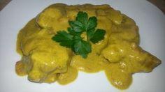 Arrosto in crema di yogurt e curry