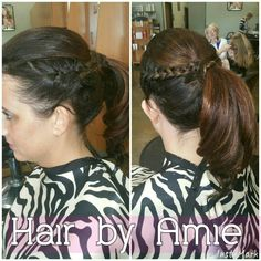 Extensions and Updo #hairbyamie