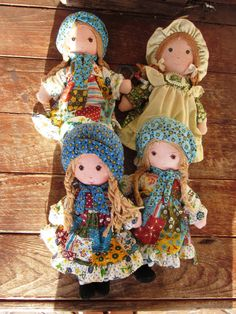 Holly Hobbie Dolls I had the one on the bottom left. Got it for my 7th birthday.