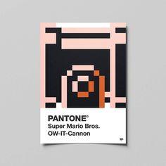 PANTONE Super Mario Bros.  OW-IT-Cannon  #pantone #mystery #block #mario #supermario #bros #art #games #work #graphicdesign #graphic #design #artwork #photoshop #pixel #pixelart #illustrator #adobe #flyer #paper #mockup #colorful #illustration #design #ni