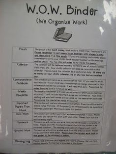 First Grader...at Last!: Introducing the WOW Binder! It's WOW.