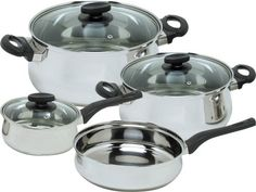 Magefesa Deliss Stainless Steel 7 Piece Cookware Set ** Hurry! Check out this great product : Cookware Sets