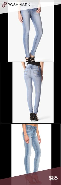 Seven off all mankind Seven of all mankind super skinny in size 28 very flattering and great stretch for comfortable fit, mid rise 7 For All Mankind Jeans Skinny