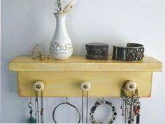 Necklace Organizer Shelf Bath & Beauty by CountryChicShoppe
