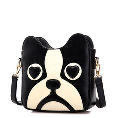Cartoon cute puppy shoulder bag,Cartoon cute kawaii black puppy shoulder bag