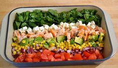"Salmon ""Cobb"" Salad with Avocado ~ New York Food Journal"