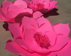 22 giant paper flower for backdrops wedding by GlowdaciousGirl
