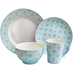 Quatre-Teal-16-piece-Dinnerware-Sets