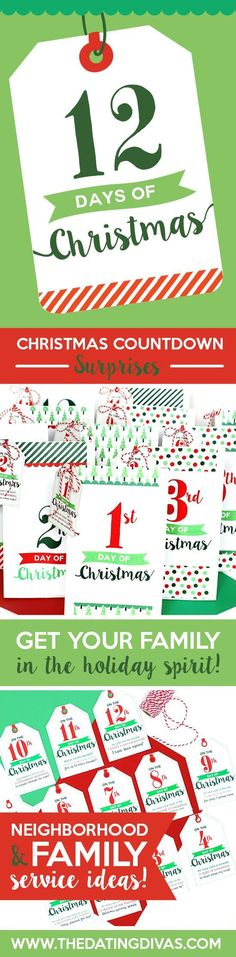 12 Days of Christmas service idea. Everything you need in one printable download! Includes shopping lists, poems, gift tags and more!