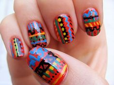 Primary colors tribal art