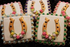 Horseshoe Cookies Kentucky derby party Kentucky derby by 4theloveofcookies | Etsy