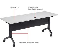 "Tables | Training | Paramount® - Training Table, Flip-Top 72""L Gray Finish Top | 695220 - GlobalIndustrial.com  269"