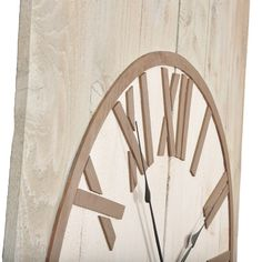 This American made wall clock is both rustic and elegant. The rough-sawn cedar planks of the background are washed with a pale gray. The cream clock face is accentuated by roman numerals and a circular trim of mocha colored poplar wood. The traditional style and soft color choices make this over-sized wall clock the perfect accent piece. Cream Clocks, Cedar Walls, Cedar Planks, Mocha Color, Roman Numerals, Beautiful Wall, Soft Colors, Wood Paneling, Accent Pieces