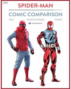 """8,328 Likes, 57 Comments - • Accurate.MCU • mcu fanpage (@accurate.mcu) on Instagram: """"• SPIDER-MAN  - COMIC COMPARISON - SCARLET SPIDER • Since almost everyone asked for a comparison…"""""""