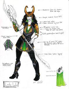 Female Loki Costume Rule 63 avengers loki by