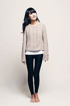 my favorite winter casual - chunky sweater and skinnies. If only I looked this good when I wore it lol