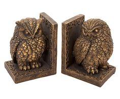 Buchstützen-Set Owl, 2-tlg., H 18 cm von LONDON ORNAMENTS (gefunden auf westwing.de, 39 €)
