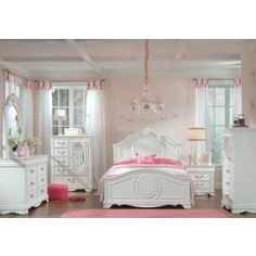 Jugendzimmerideen: Standard Furniture Jessica Youth Panel Bedroom Set in White Paint - Schlafzimmer Ideen Bedroom Panel, Childrens Bedroom Furniture, Girls Bedroom Sets, Standard Furniture, White Bedroom Set, Youth Bedroom, Kids Bedroom Sets, Childrens Bedrooms, Girls Bedroom Furniture