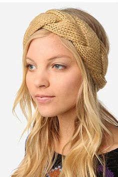 Knitted braided headband. Stay warm and be fabulous!