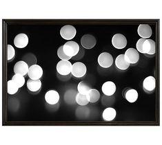 """Winter Glitter Framed Print by Lupen Grainne, 42 x 28"""", Ridged Distressed Frame, Black, No Mat"""