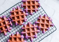 Eat these Ube Mochi Waffles for breakfast, brunch, or dessert. These naturally purple waffles are fun for all ages and use Japanese & Filipino ingredients. Ube Recipes, Waffle Recipes, Donut Recipes, Starbucks Recipes, Sushi Recipes, Mochi Waffle Recipe, Mochi Donuts Recipe, Filipino Desserts, Asian Desserts