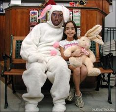 As inappropriate Easter Bunnies go, this one is probably the least creepy by a country mile. But still. Come on, man, you're not even trying.