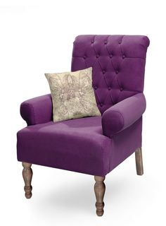 """ΠΟΛΥΘΡΟΝΑ """"FLORA"""" ΜΩΒ Accent Chairs, Flora, Armchair, Furniture, Home Decor, Upholstered Chairs, Sofa Chair, Single Sofa, Decoration Home"""