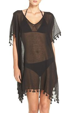 Free shipping and returns on Seafolly 'Amnesia' Cotton Gauze Cover-Up Caftan at Nordstrom.com. Head to the beach and beyond in this featherweight, cotton-gauze caftan trimmed in tiny tassels for a free-spirited look.