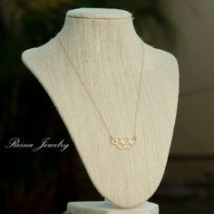 Gold Teardrop Necklace Bubble Necklace Bridal by ReinaJewelry, $20.00